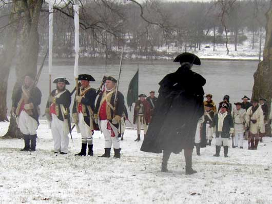George Washington Addreses His Troops. Source:http://www.ushistory.org/washingtoncrossing/history/index.htm