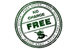 no charge park fee logo